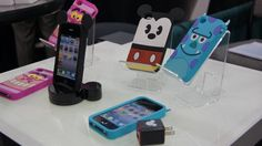 Awesome minimalist Disney cases. Complete with mouse ears and monster horns.