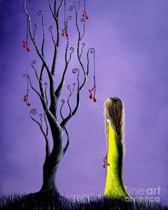 Five Wishes Left By Shawna Erback Painting by Shawna Erback
