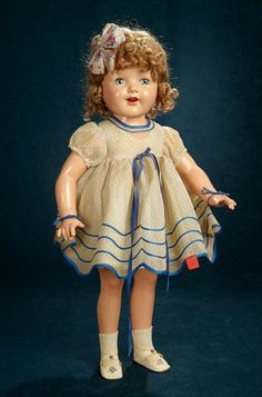 """25/"""" or 27/"""" Composition Doll Ideal  Shirley Temple Doll Shoes for 22/"""""""