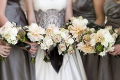 Bouquets from my October Wedding (More photos at www.allthedarkrooms.com) #Wedding #Flowers