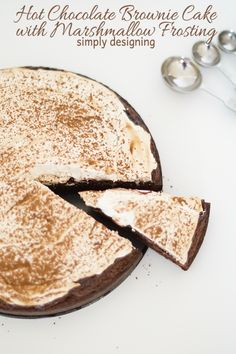 Hot Chocolate Brownie Cake with Marshmallow Frosting by Simply Designing