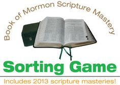 Book of Mormon Scripture Mastery Sorting Game