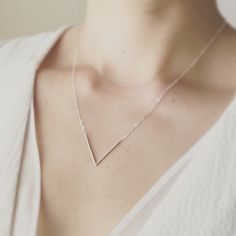 Last one- Silver V Necklace/Minimal V Necklace/Layered V Necklace/Simple V Necklace/Dainty Necklace/ Minimalist Jewelry/Thin V Necklace - Last one- Silver V Necklace/Minimal V Necklace/Layered V Necklace/Simple V Necklace/Dainty Necklace - Silver Chain Necklace, Dainty Necklace, Dainty Jewelry, Simple Necklace, Simple Jewelry, Sterling Silver Necklaces, Silver Jewelry, Silver Rings, Chain Necklaces