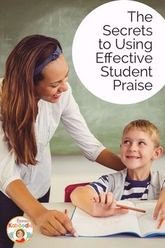 Did you know that excessive general student praise can actually be detrimental to student achievement? What kind of student praise should you use instead? What makes praise effective? Check out teacher tips and things to avoid when giving praise to stu Classroom Behavior Management, Student Behavior, Behaviour Management, Classroom Behaviour, Teaching 5th Grade, Teaching Tips, Teaching Strategies, Social Emotional Activities, Teacher Hacks