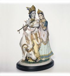 RADHA KRISHNA Lladró #01001910 Limited Edition 3,000 - Base Included A Diwali Collection Favorite