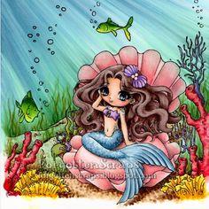 Copic Colors: Sea Floor Seaweed Coral and Fish Sea Floor Clam Shell Mermaid Skin Mermaid Tail Mermaid Hair Shadows Cute Mermaid, Mermaid Art, The Little Mermaid, Fantasy Mermaids, Mermaids And Mermen, Mermaid Skin, Underwater Background, Underwater Pictures, Mermaid Drawings