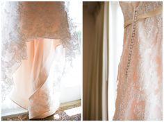 A L'Auberge Del Mar Wedding. Lace Wedding Dress Details
