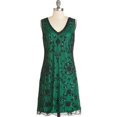 Vintage Inspired Mid-length Sleeveless Shift Bead It Dress ($130) ❤ liked on Polyvore featuring dresses, green, vintage, apparel, vintage beaded cocktail dress, cocktail party dress, vintage green dress, vintage dresses and green cocktail dress