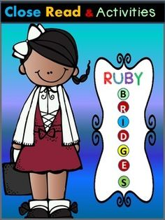 Ruby Bridges - This Ruby Bridges product contains a close reading passage and activities based on Ruby Bridges' biography.Included:*a close reading text*Ruby Bridges - True/False statement sort*write 3 facts about Ruby Bridges and color her picture*Ruby Bridges -cut and paste a sentenceHappy teaching!Dana's Wonderland