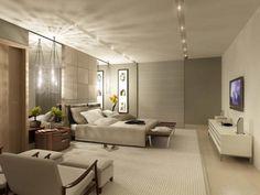 Dormitorio cálido moderno