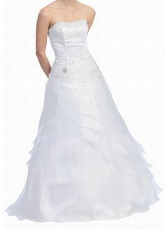Ball Gown Strapless Formal Wedding Dress WAS $1189.99 NOW $119.99 !