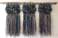 Murales — Marianne Werkmeister Weaving Art, Tapestry Weaving, Hand Weaving, Textiles, Art Projects, Projects To Try, Rope Art, Woven Wall Hanging, String Art