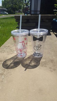 Hey, I found this really awesome Etsy listing at https://www.etsy.com/listing/537920163/ring-bearer-and-flower-girl-tumbler-ring