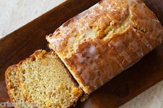 Shirley's Glazed TANGERINE BREAD * bits of fresh peel in bread * GLAZED * freezes and ships well ** NUTS optional **