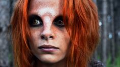 Very close up, Irisa Nyira, Irathient, deputy lawkeeper in the town of Defiance.  From the episode - The Devil in the Dark - Defiance