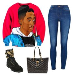 """Untitled #57"" by afrikanqueen901 on Polyvore featuring Balmain and Betsey Johnson"