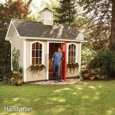 Printable plans and a materials list show you how to build a shed that's dollar-savvy and full of storage. Keep reading to learn more.