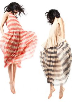 sara lanzi // sheer striped dresses #style #fashion #stripes