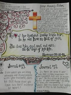 Proverbs 31:11-12 Journal Topics Husband Bible Study Tips, Bible Study Journal, Scripture Study, Bible Lessons, Bible Art, Bible Scriptures, Scripture Journal, Bible Mapping, Bible Knowledge