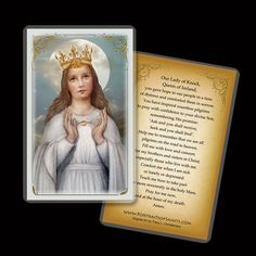 Our Lady of Knock, Plaque & Holy Card Gift Set for Mothers Day, an Irish House Blessing Catholic Art, Religious Art, Prayer Book, Prayer Corner, Van Cleef And Arpels Jewelry, John The Evangelist, House Blessing, First Holy Communion, Prayer Cards
