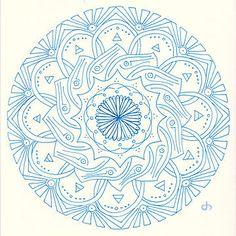 Mandala dandelion