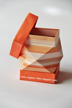 ORIGAMI-TIME.: Origami Diamond cut box.