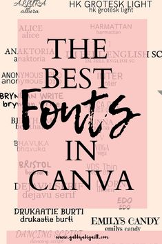 Are you looking for pretty fonts to use for your graphics? Here is a compilation of the best fonts in Canva. Digital Marketing Strategy, Content Marketing, Online Marketing, Marketing Tools, Pretty Fonts, Cool Fonts, Graphic Design Tips, Tool Design, Experiment