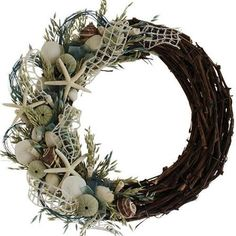 Urban Florals Summer Sea Glass Coastal Wreath