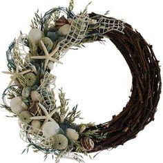 Urban Florals Summer Sea Glass Coastal Wreath
