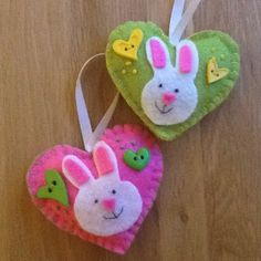 Easter bunny hearts