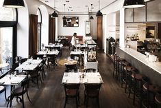 Restaurant Museet - Google Search Bistro Interior, Home Interior, Modern Interior Design, Contemporary Interior, French Cafe, French Bistro, Modern Cafe, Bar Design Awards, Café Bar