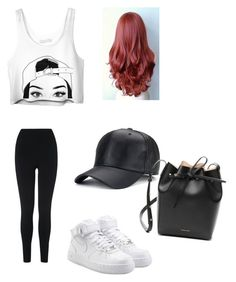 """coffee run #37"" by madison-kohut on Polyvore featuring L.K.Bennett, NIKE and Mansur Gavriel"