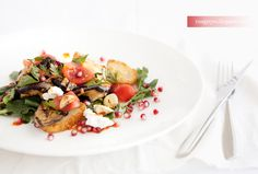 Grilled Eggplant Salad with Pomegranate and Harissa by zmagaznu as ...