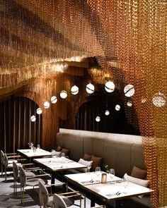 Imposing Lounge Design Projects By You Favorite Interior Designers Restaurant Interior Design, Modern Interior Design, Interior Design Inspiration, Design Interiors, Luxury Restaurant, Restaurant Lighting, Restaurant Ideas, Restaurant Owner, Modern Restaurant