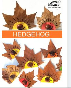 Craft Idea Autumnal chestnut hedgehog- Bastelidee Herbstlicher Kastanien Igel Simple and easy crafting idea with natural material. Make a hedgehog out of chestnut and autumn leaves. Well suited for children in kindergarten and elementary school. Easy Fall Crafts, Fall Crafts For Kids, Toddler Crafts, Preschool Crafts, Diy Crafts For Kids, Fun Crafts, Art For Kids, Nature Crafts, Leaf Crafts Kids