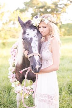 Bohemian Countryside Bridal Session by Luminescence Studio
