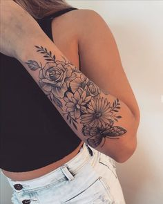 Cover Up Tattoos For Women, Rose Tattoos For Women, Hip Tattoos Women, Girl Arm Tattoos, Sleeve Tattoos For Women, Body Art Tattoos, Soul Sister Tattoos, Simple Hand Tattoos, Subtle Tattoos