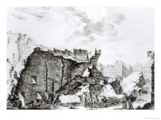Tower of San Roque, Lisbon After the Earthquake of 1755 Giclee Print at Art.com (Ch. 5: The ship sinks, and Pangloss, Candide, and the sailor are the only survivors. They reach shore and walk toward Lisbon.  Lisbon has just experienced a terrible earthquake and is in ruins. The sailor finds some money in the ruins and promptly gets drunk and pays a woman for sex. Meanwhile the groans of dying and buried victims rise from the ruins.)