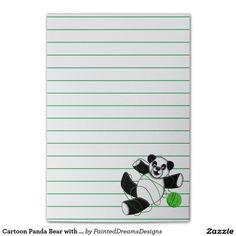 Cartoon Panda Bear with Yarn Graphic Post-it® Notes