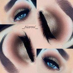 Wish I had colored eyes! :( gorgeous eye makeup.