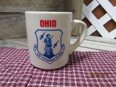 Vintage Ohio Air National Guard Coffee Cup Mug Made in England  ANG by EvenTheKitchenSinkOH on Etsy
