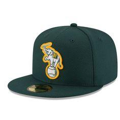 c475f01eb0bcc Men s Oakland Athletics New Era Green Game Diamond Era 59FIFTY Fitted Hat