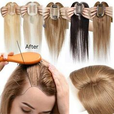 Hair Toppers Extension:100% Virgin Remy Human Hair ,tangle free,silky soft and long lasting. Our extensions can be tonged, straightened, washed and dyed, etc. Blonde Hair Topper, Extensions For Thin Hair, Edgy Short Hair, Hair Toupee, Thin Hair Styles For Women, Hair Styler, Hair Density, Crown Hairstyles, Remy Human Hair