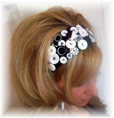 button headband- looks easy.
