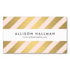 Modern Gold and Peach Diagonal Stripes Business Card Templates. This is a fully customizable business card and available on several paper types for your needs. You can upload your own image or use the image as is. Just click this template to get started!