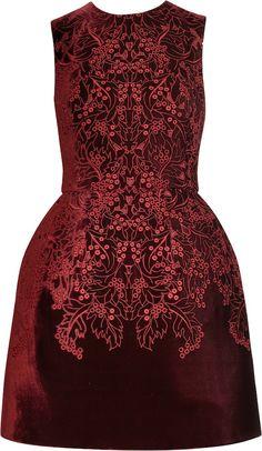 Red Velvet Dress | McQ Alexander McQueen red velvet dress