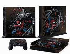 Qualified Spider Man Venom Black Ps4 Console Controllers Skin Vinyl Decals Stickers Covers To Suit The PeopleS Convenience Video Game Accessories