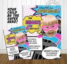 PRINTABLE Calling All Superheroes Birthday Party Invitation Superhero Party Invite Party by OurSecretPlace
