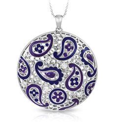 Koyari purple pendant