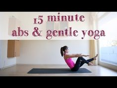 15 minute abs & gentle yoga
